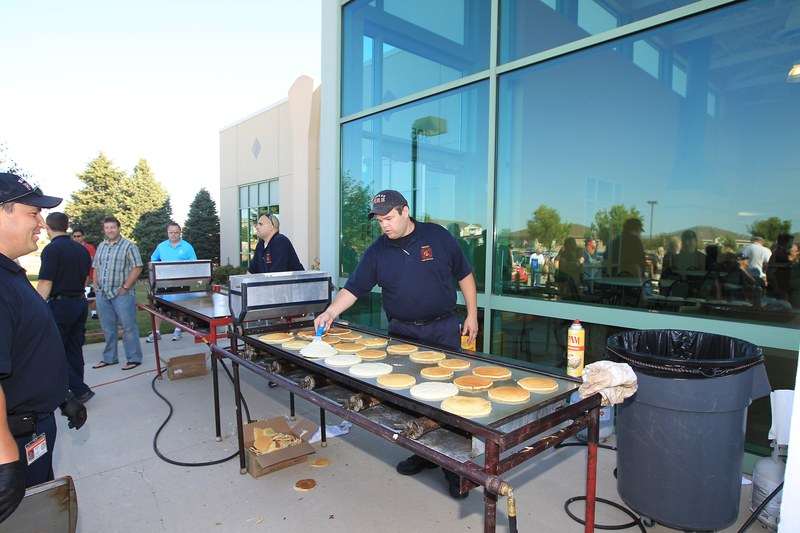 MTTS enjoys a pancake breakfast provided by the Waukee Fire Department in Des Moines, Iowa.<br />