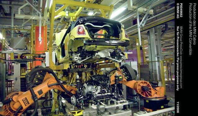 Production of the MINI Convertible (11/2008)