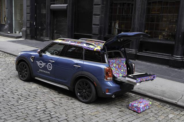 The #MINIPiano is a specially designed and modified MINI Countryman that has been outfitted with a keyboard, sound system, and brightly colored exterior.