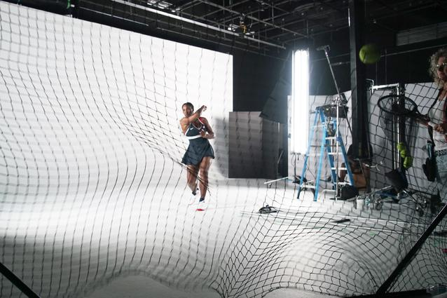 Serena Williams behind the scenes at the MINI 2016 Olympics commercial shoot