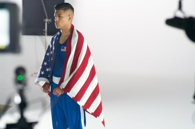 Carlos Balderas behind the scenes at the MINI 2016 Olympics commercial shoot