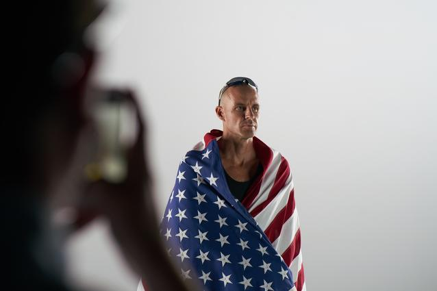 Jake Gibb behind the scenes at the MINI 2016 Olympics commercial shoot