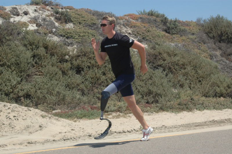 Michael Johnston, US Paralympic Athlete, will host &#145Challenges&#145 during MTTS inviting participants to run, bike and/or swim with him during triathalon training.<br />