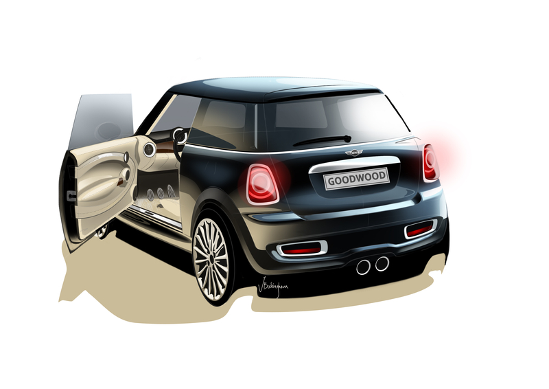 MINI INSPIRED BY GOODWOOD - exterior design sketch<br />