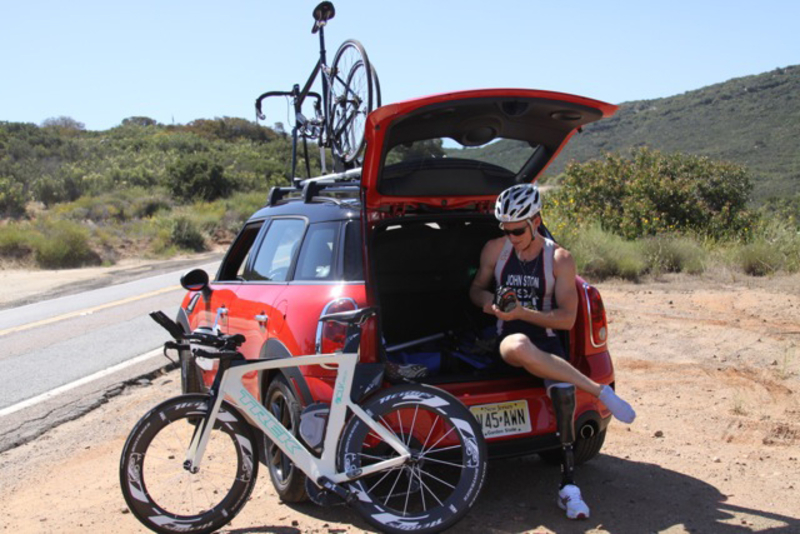 Michael Johnston, US Paralympic Athlete, will host 'Challenges' during MTTS inviting participants to run, bike and/or swim with him during triathalon training.<br />
