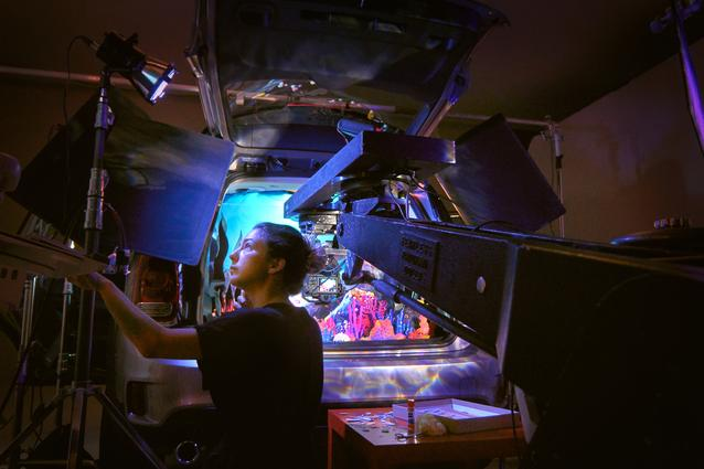 """Behind the scenes of Kirsten Lepore's aquatic adventure """"Underwater"""" in the back of a MINI Countryman"""