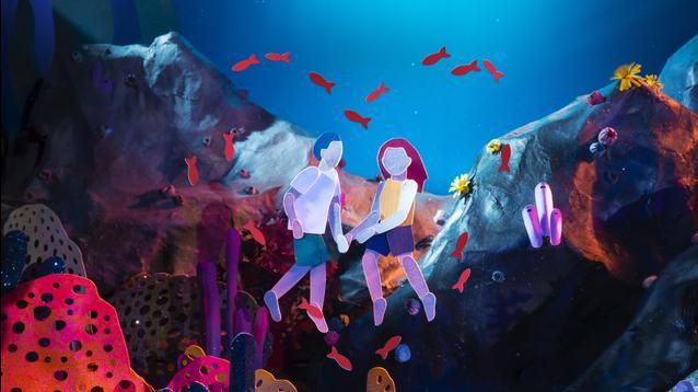 "Kirsten Lepore's aquatic adventure ""Underwater"" in the back of a MINI Countryman"