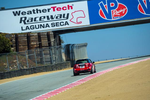 The MINI JCW Team practices for the WeatherTech Raceway Laguna Seca 120.<br />