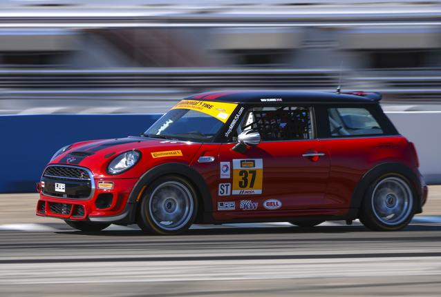 The MINI John Cooper Works #37 car at Sebring International Raceway in Sebring, Florida. Photo credit:<br />