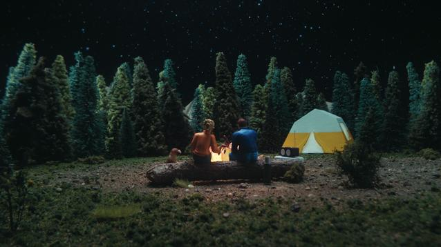 """Nix + Gerber's campsite dioramas """"Camping"""" in the back of a MINI Countryman."""