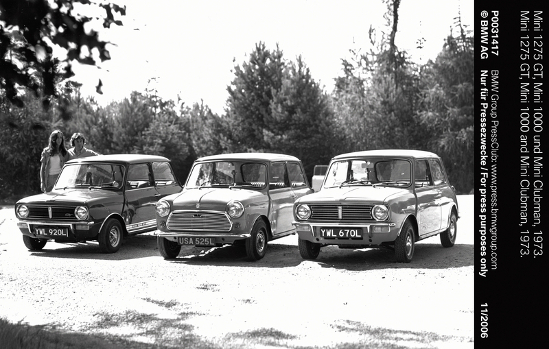 Mini 1275 GT, Mini 1000 and Mini Clubman, 1973 (11/2006)<br />