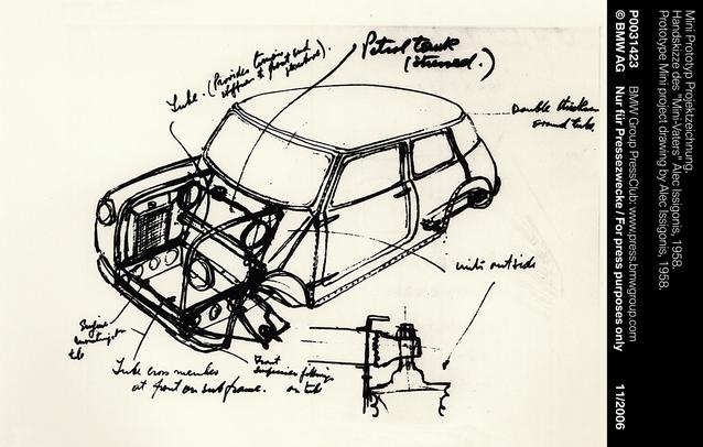 Prototype Mini project drawing by Alec Issigonis