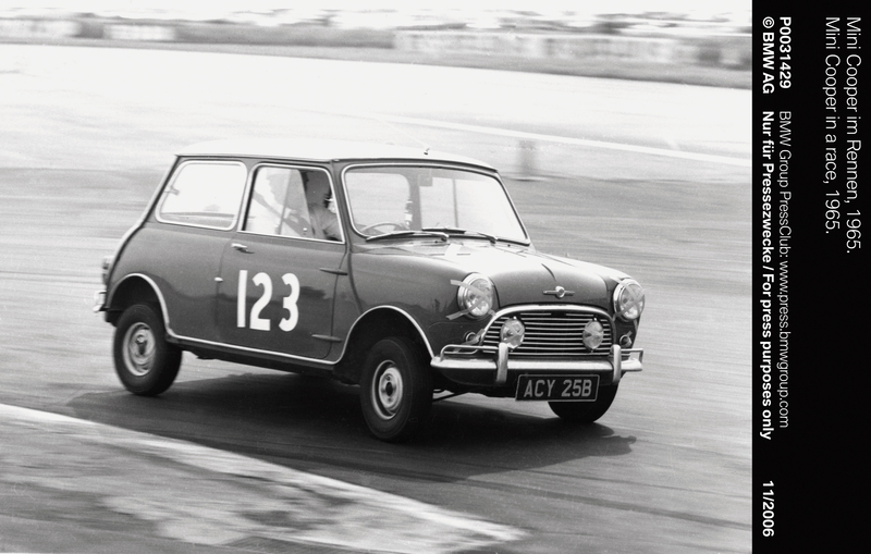 Mini Cooper in a race, 1965 (11/2006)<br />