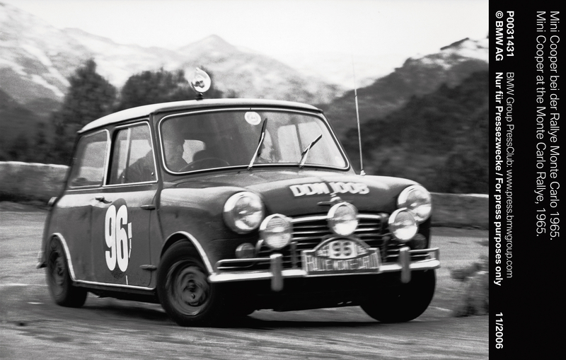 Mini Cooper at the Monte Carlo Rallye, 1965 (11/2006)<br />