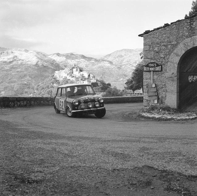 Mäkinen/Easter in the Mini-Cooper at the Monte Carlo Rally, 1965 (03/2009)