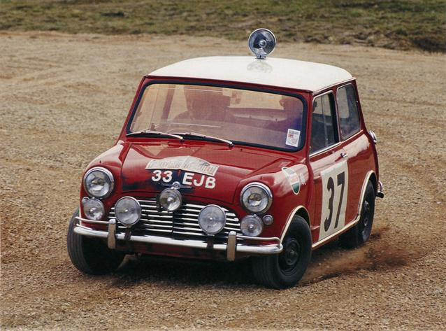 Calender sheet February: Paddy Hopkirk won the 1964 Monte Carlo Rally (03/2009)