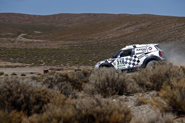 310 TERRANOVA Orlando (arg) GRAUE Bernardo (arg) MINI action during the Dakar 2016 Argentina, Bolivia, Etape 7 - Stage 7, Uyuni - Salta, from January 9, 2016 - Photo Florent Gooden / DPPI