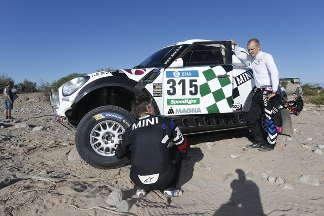 2016 Dakar, Mikko Hirvonen (FIN), Michel Perin (FRA), MINI ALL4 Racing - AXION X-raid Team 315 - 13.01.2016