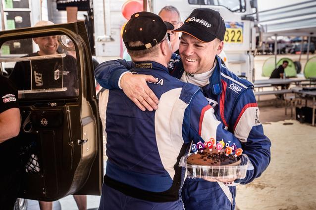 2016 Abu Dhabi Desert Challenge, Konstantin Zhiltsov (RUS), Birthday - MINI ALL4 Racing #201 - G-Energy Team - 05.04.2016