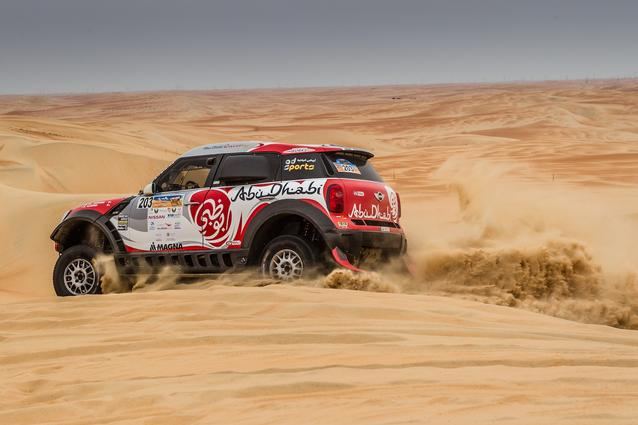 2016 Abu Dhabi Desert Challenge, Sh. Khalid Al Qassimi (ARE), Khalid Al Kendi (ARE) - MINI ALL4 Racing #203 - Abu Dhabi racing - 05.04.2016