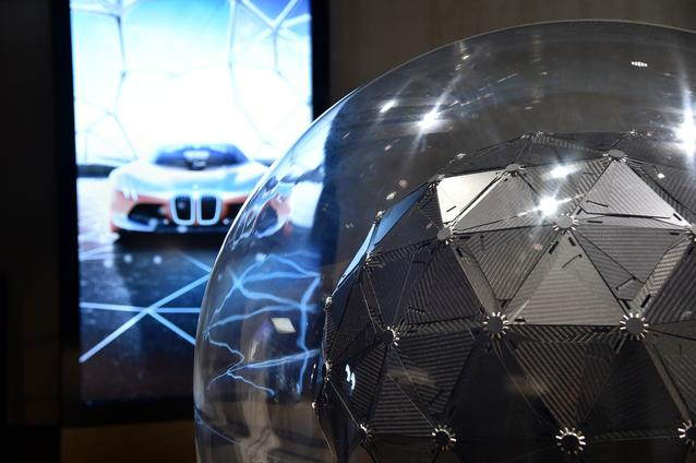 "BMW GROUP THE NEXT 100 YEARS. ""Iconic Impulses. The BMW Group Future Experience"" in London, Roundhouse. BMW brand space. Interactive sculpture of the BMW VISION NEXT 100 (06/2016)"