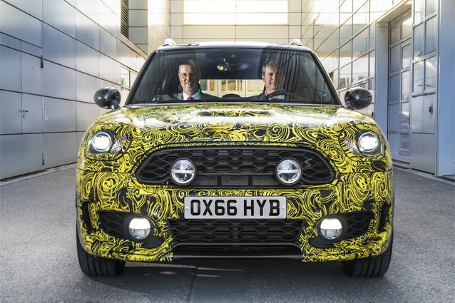 Head of MINI Brand Management Sebastian Mackensen and Head of MINI Series Management Peter Wolf preview the first plug-in hybrid model by the British Premium Brand.
