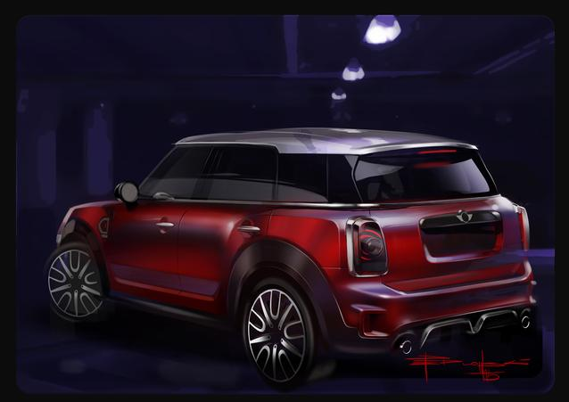 MINI Countryman. Sketches Exterior (1016)