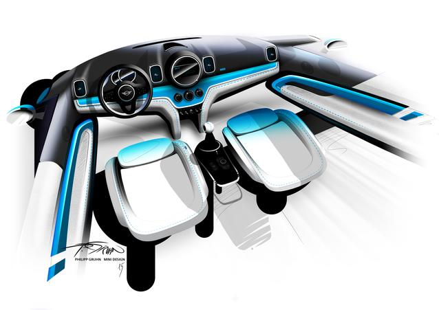 MINI Countryman. Sketches Interior (1016)