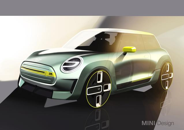 MINI Electric Concept- Design Sketches