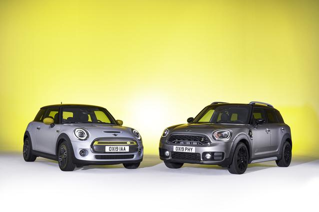 The new MINI Cooper SE and MINI Cooper S E Countryman ALL4 (07/19).<br />