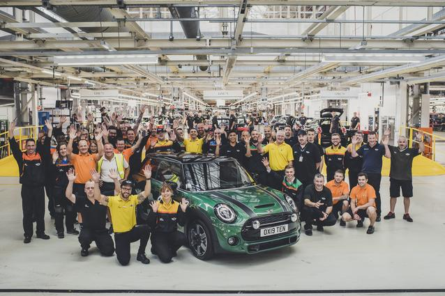 10 Millionth MINI revealed at MINI Plant Oxford