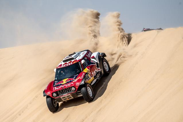 Munich (GER), 17th January 2020. Dakar Rally, Saudi Arabia, MINI JCW Buggy, Carlos Sainz.
