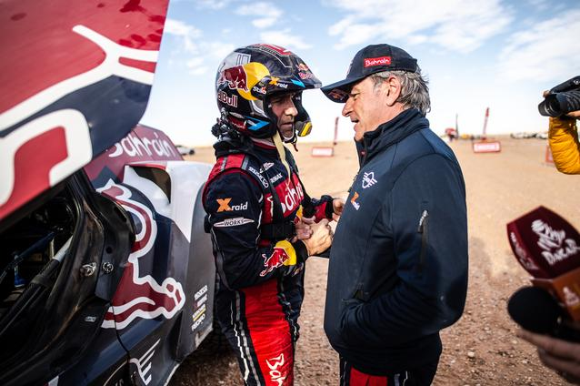 Munich (GER), 17th January 2020. Dakar Rally, Saudi Arabia, MINI JCW Buggy, Carlos Sainz, Stéphane Peterhansel.