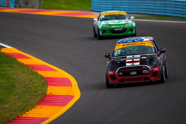 MINI JCW Team Dominates at Watkins Glen with 1 – 2 Finish Photo Credit: Images courtesy of the MINI JCW Race Team/LAP Motorsports LLC via Halston Pitman.