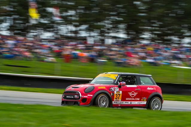 MINI JCW Race Team at Mid-Ohio. Photo Credit: Images courtesy of the MINI JCW Race Team/LAP Motorsports LLC via Halston Pitman